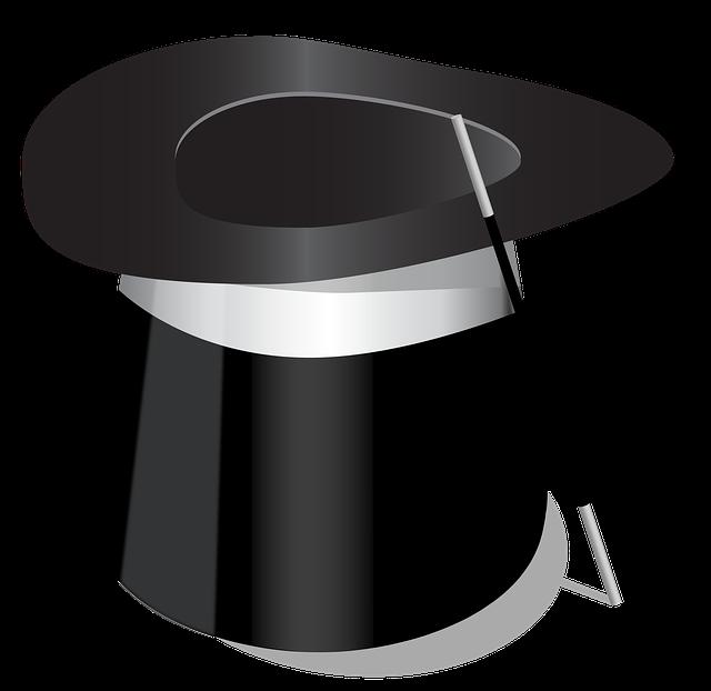 hůlka a klobouk